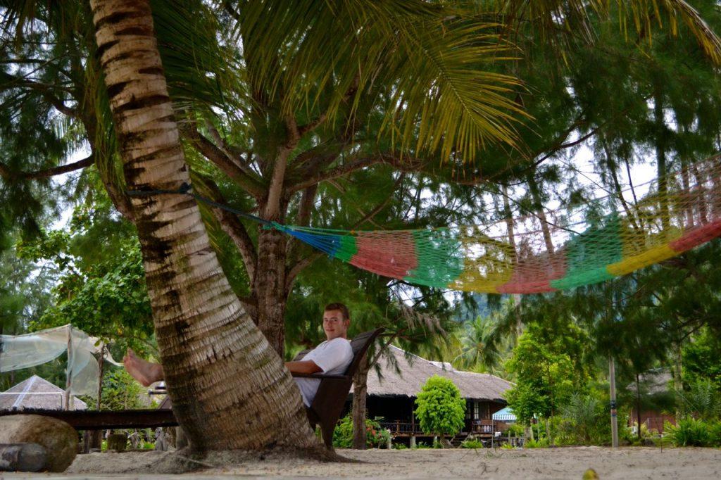 Relaxen vor der Anlage des Mirage Resort