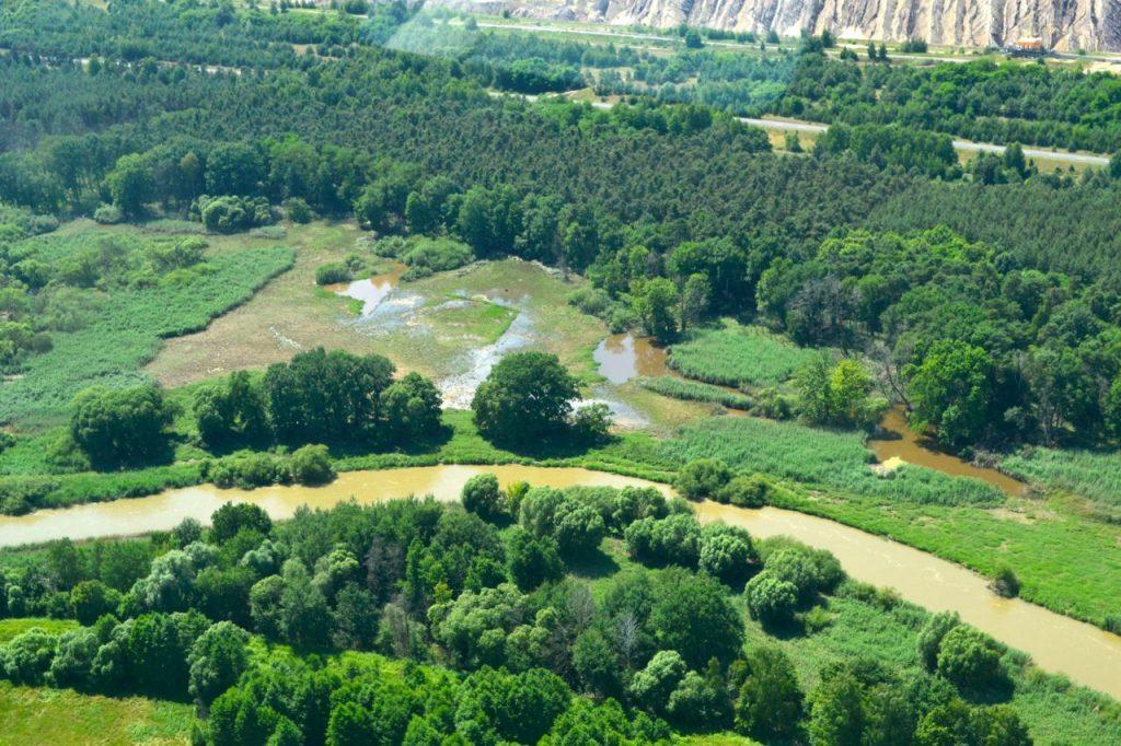 Flussmündung in brandenburg