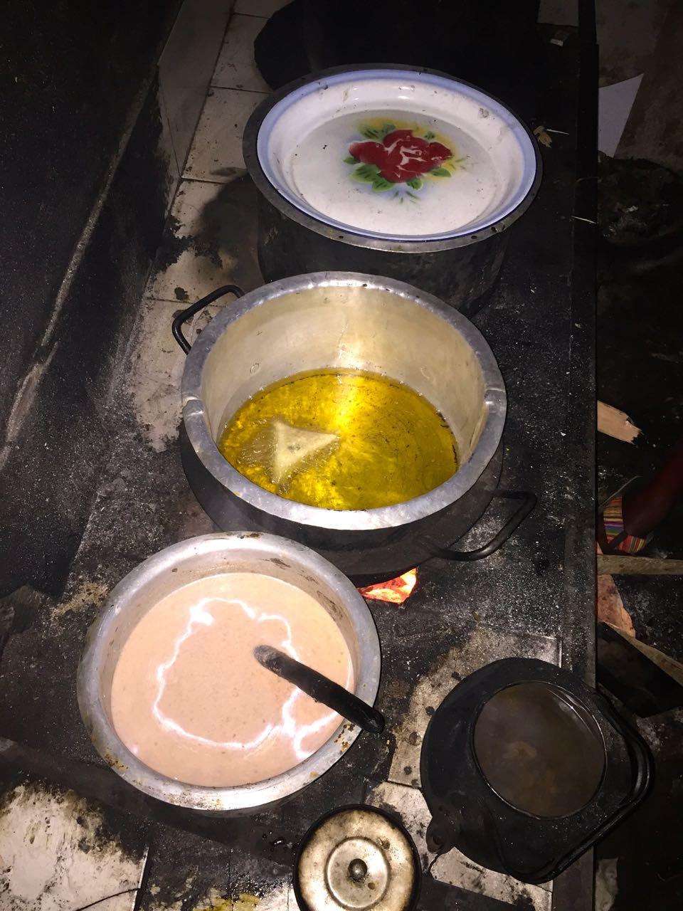 Öl zum Frittieren der Sambias