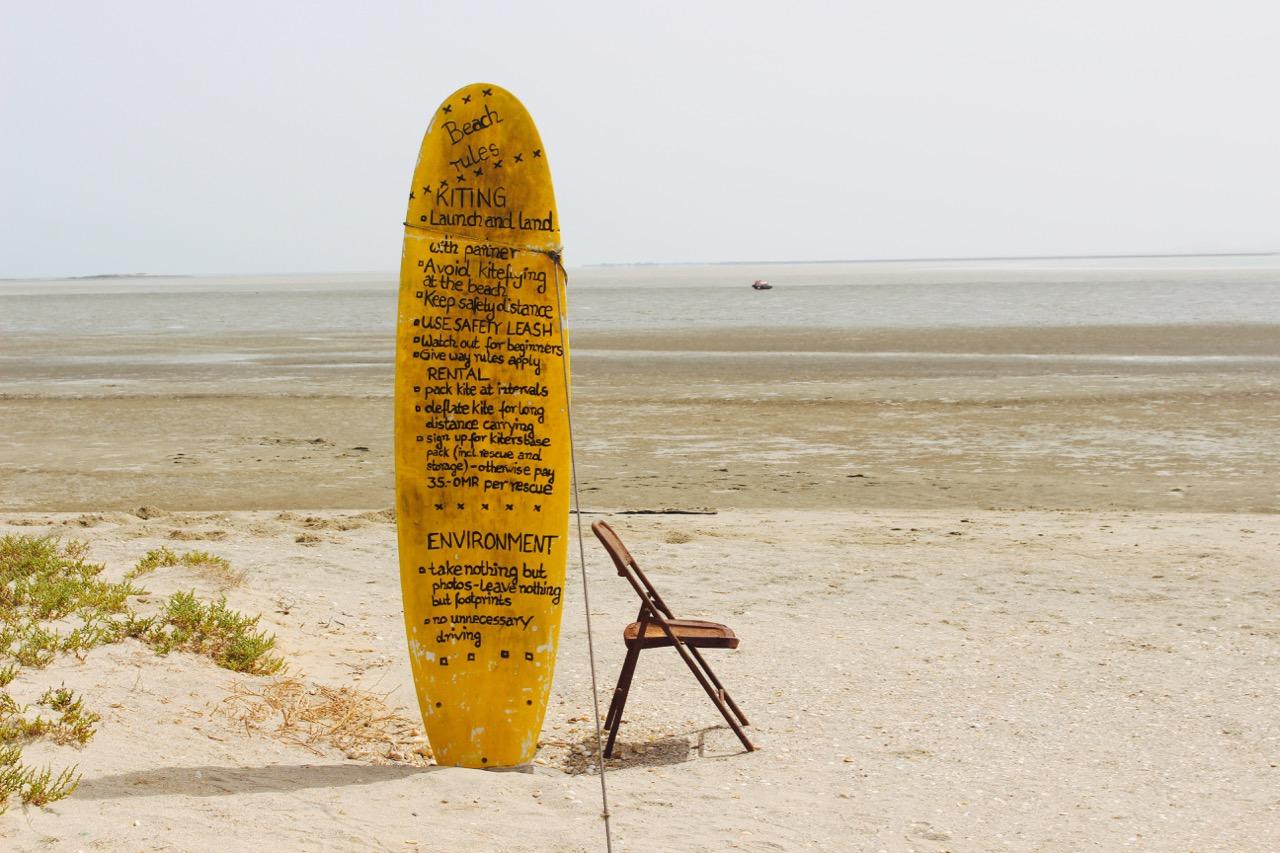 Regel des Kitesurfcamps auf Masirah Island