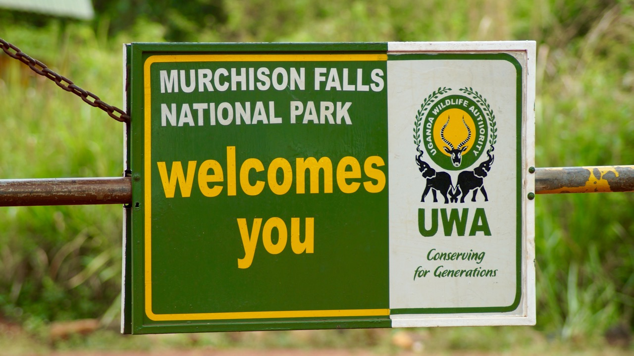 Eingang Murchison Falls Nationalpark