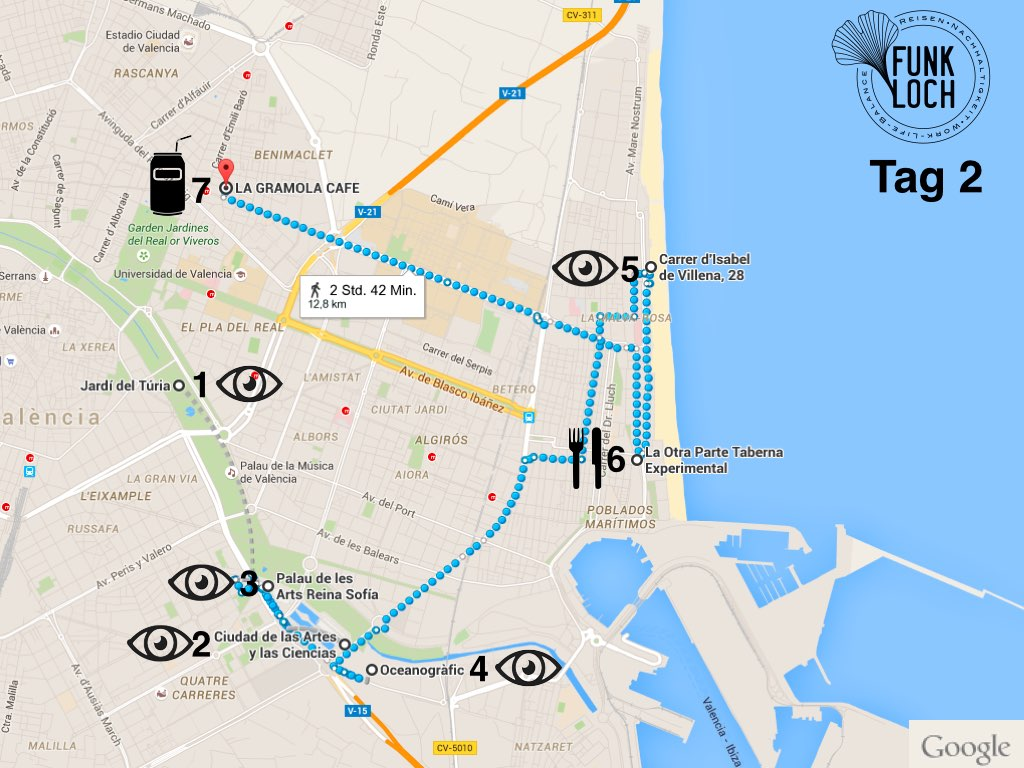 Stadttrip Sightseeing Route Valencia Tag 2