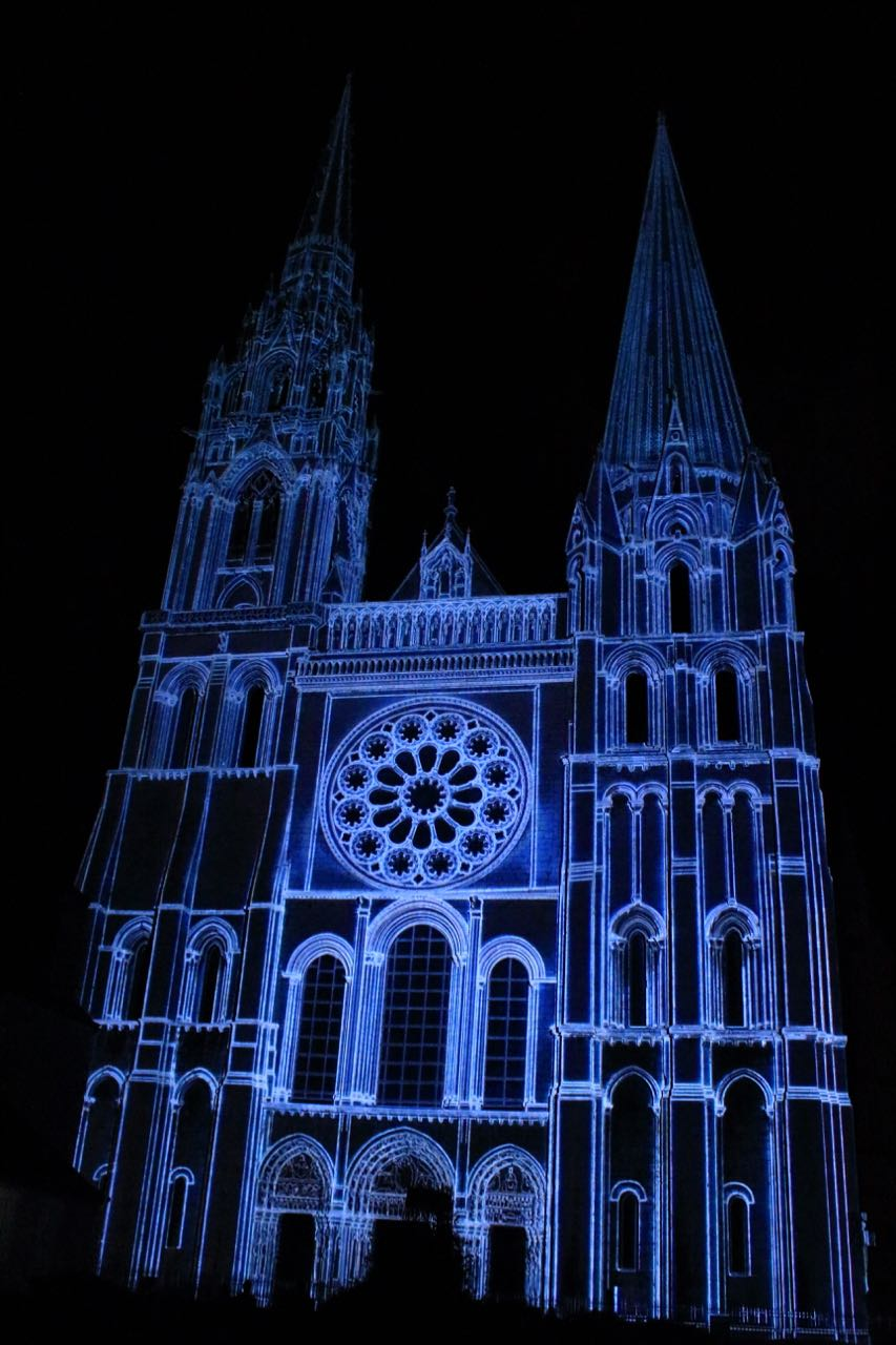Kathedrale Chartres bei Chartres en Lumieres