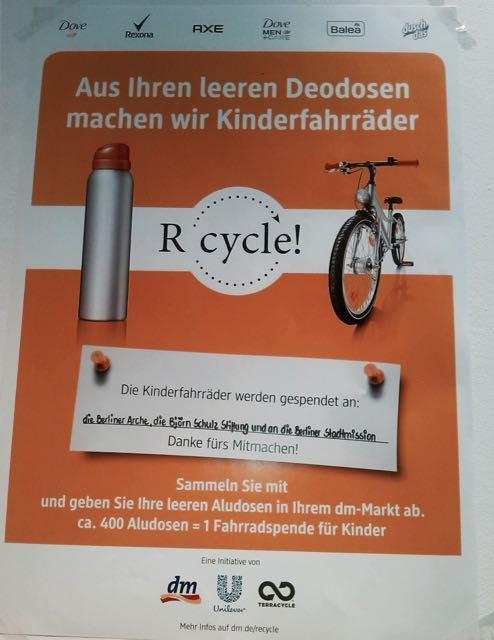 Recycling von dm und Unilever.