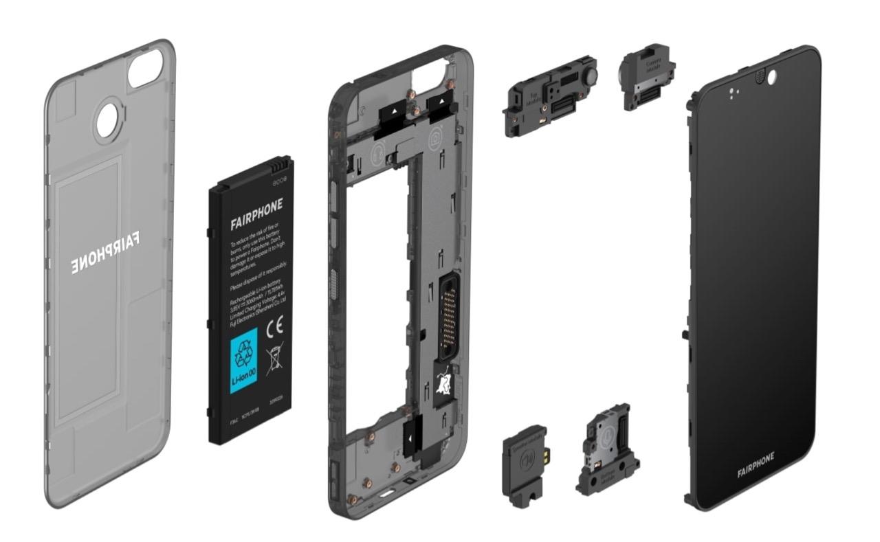 Fairphone 3 und Einzelteile