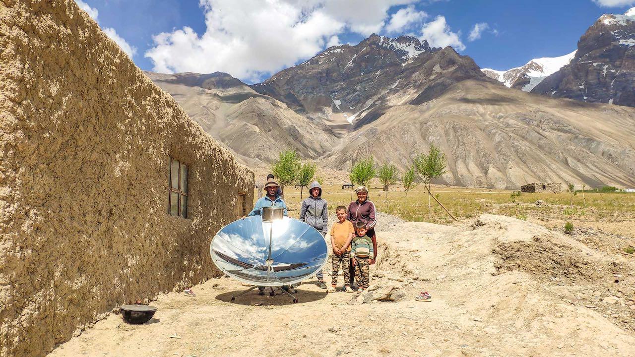 Solarkocher in Tadschikistan