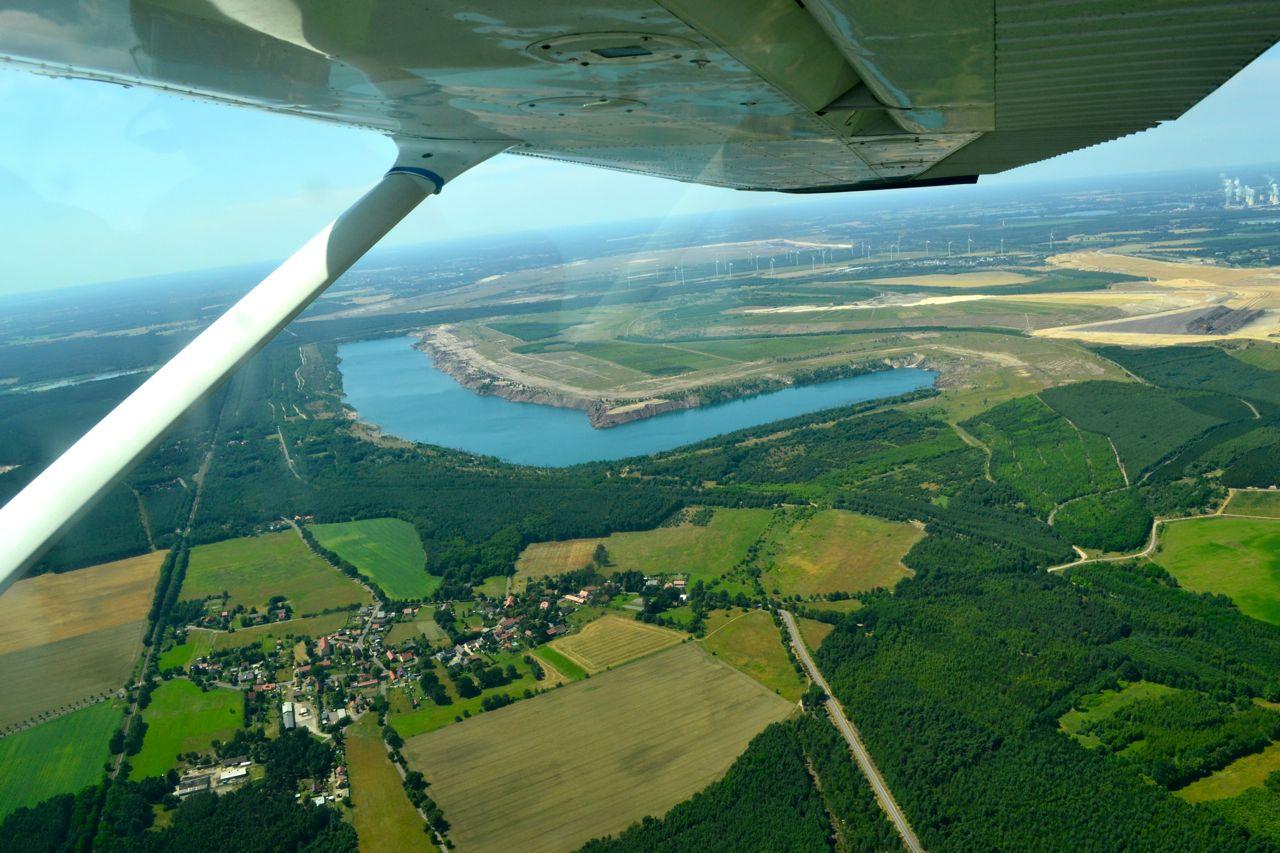 Cessna über Brandenburg