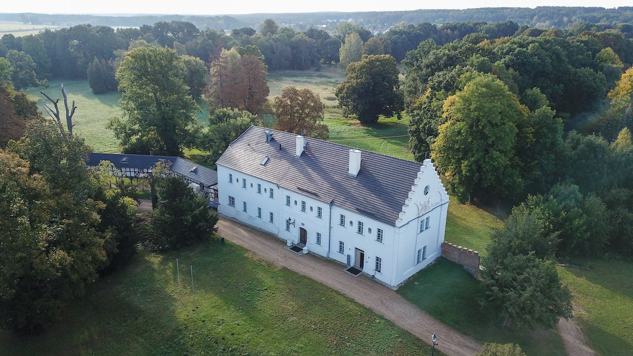 Altes Schloss Baruth aus der Luft