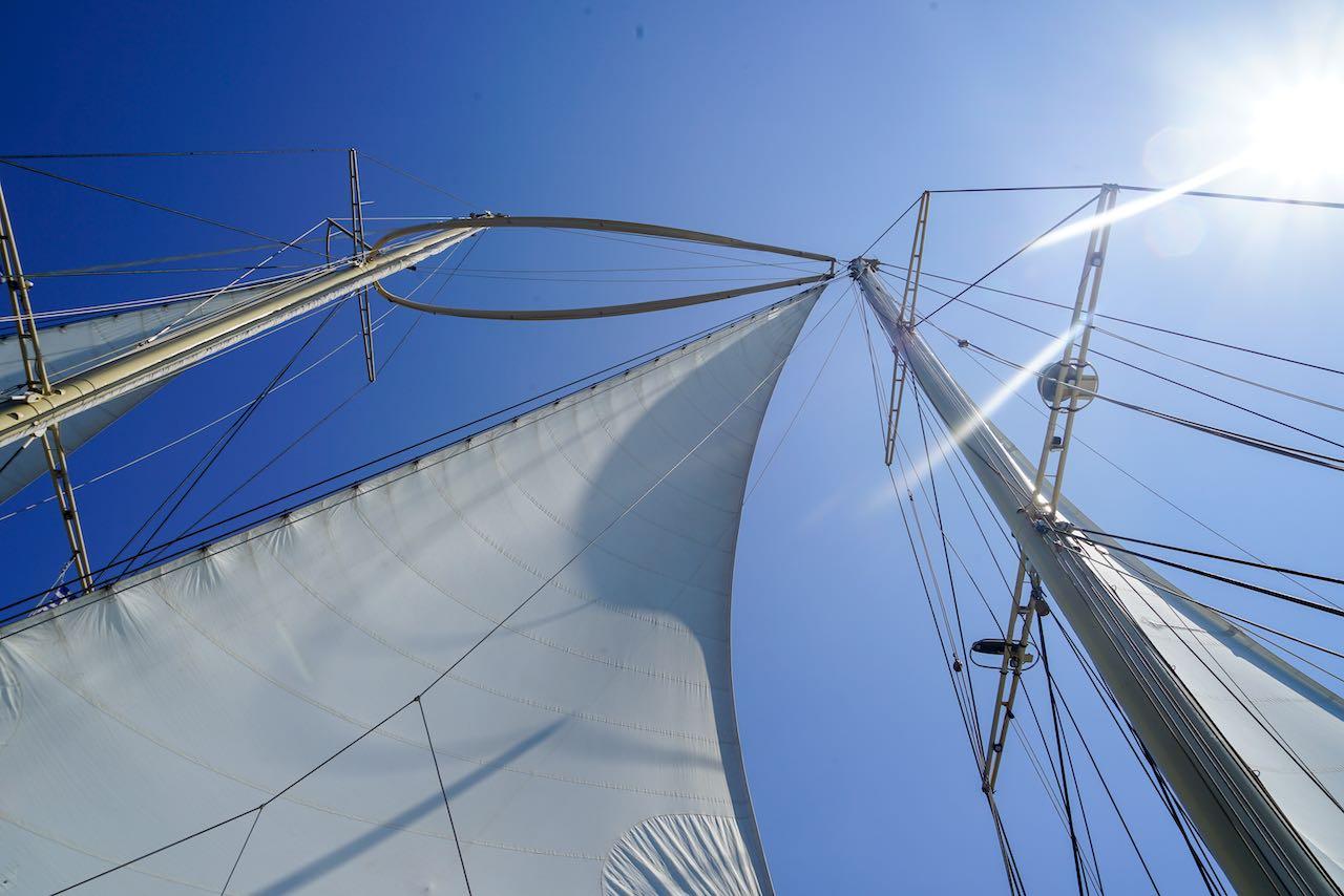 Segelurlaub mit viel Wind