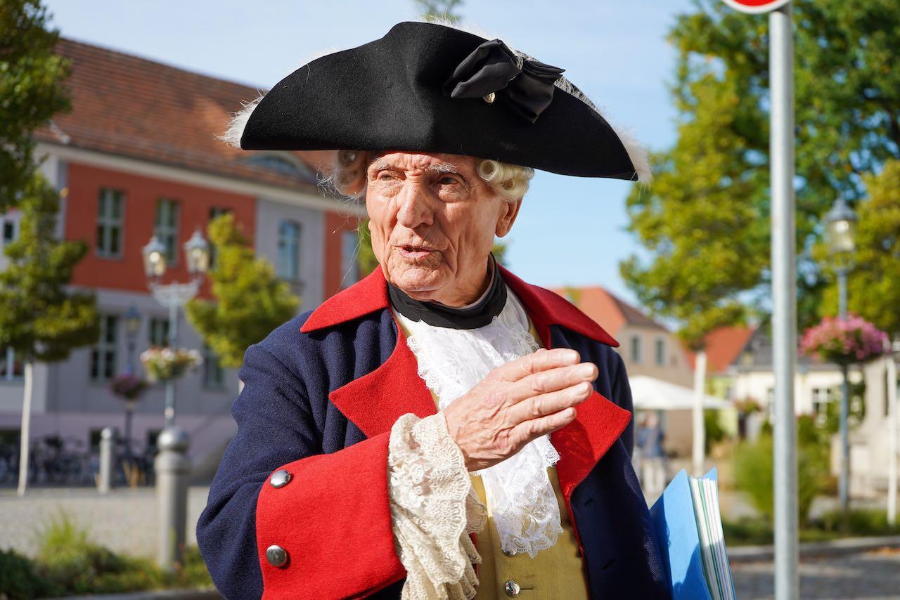 Hermann Lamprecht als Friedrich der Große