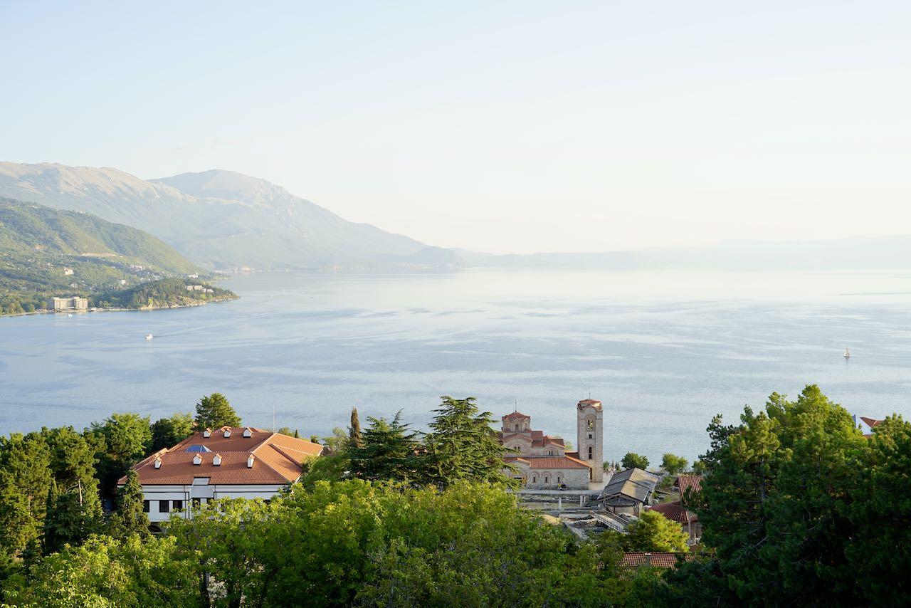 Blick über Ohridsee