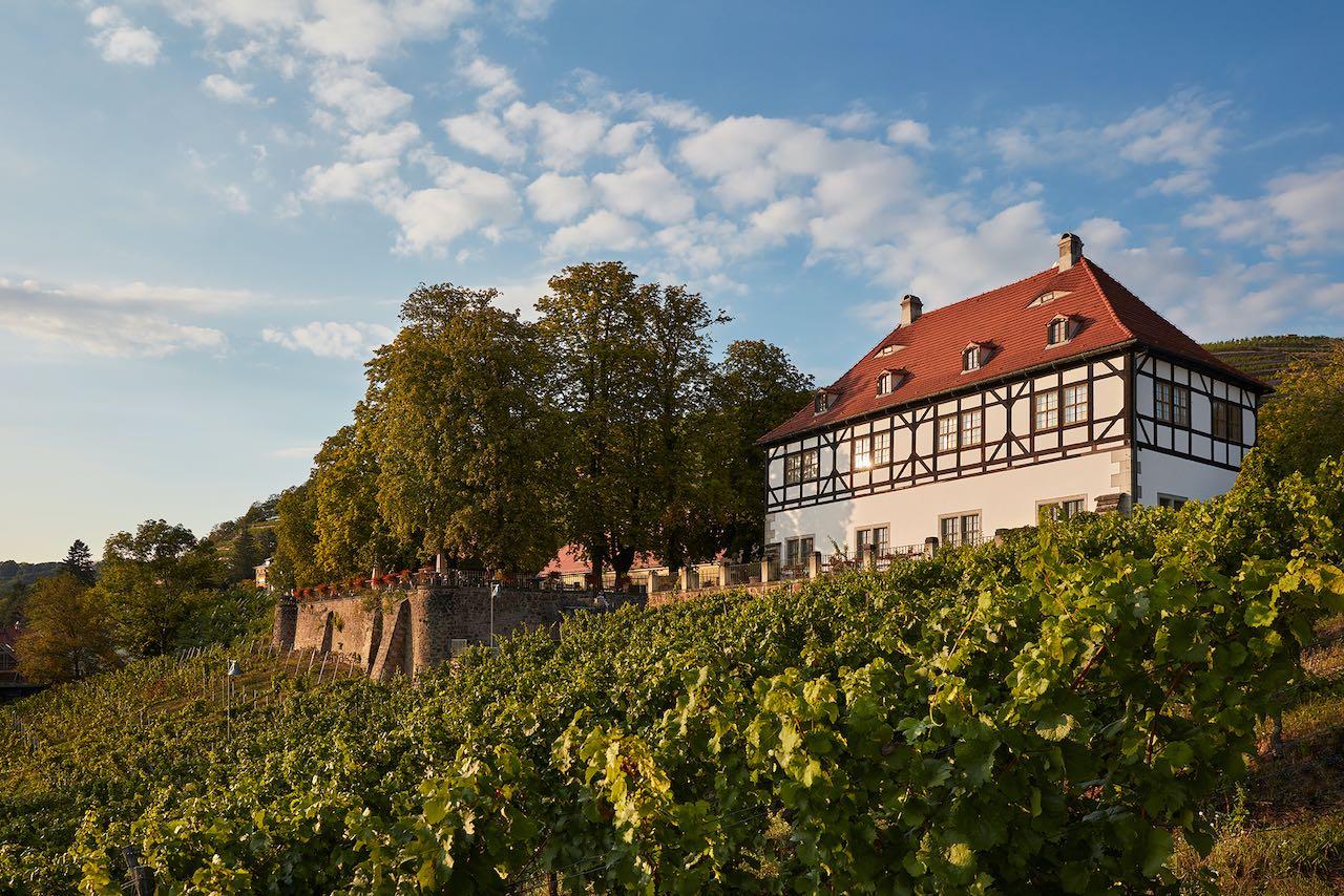 sächsische weinstraße route Schloss Hoflößnitz