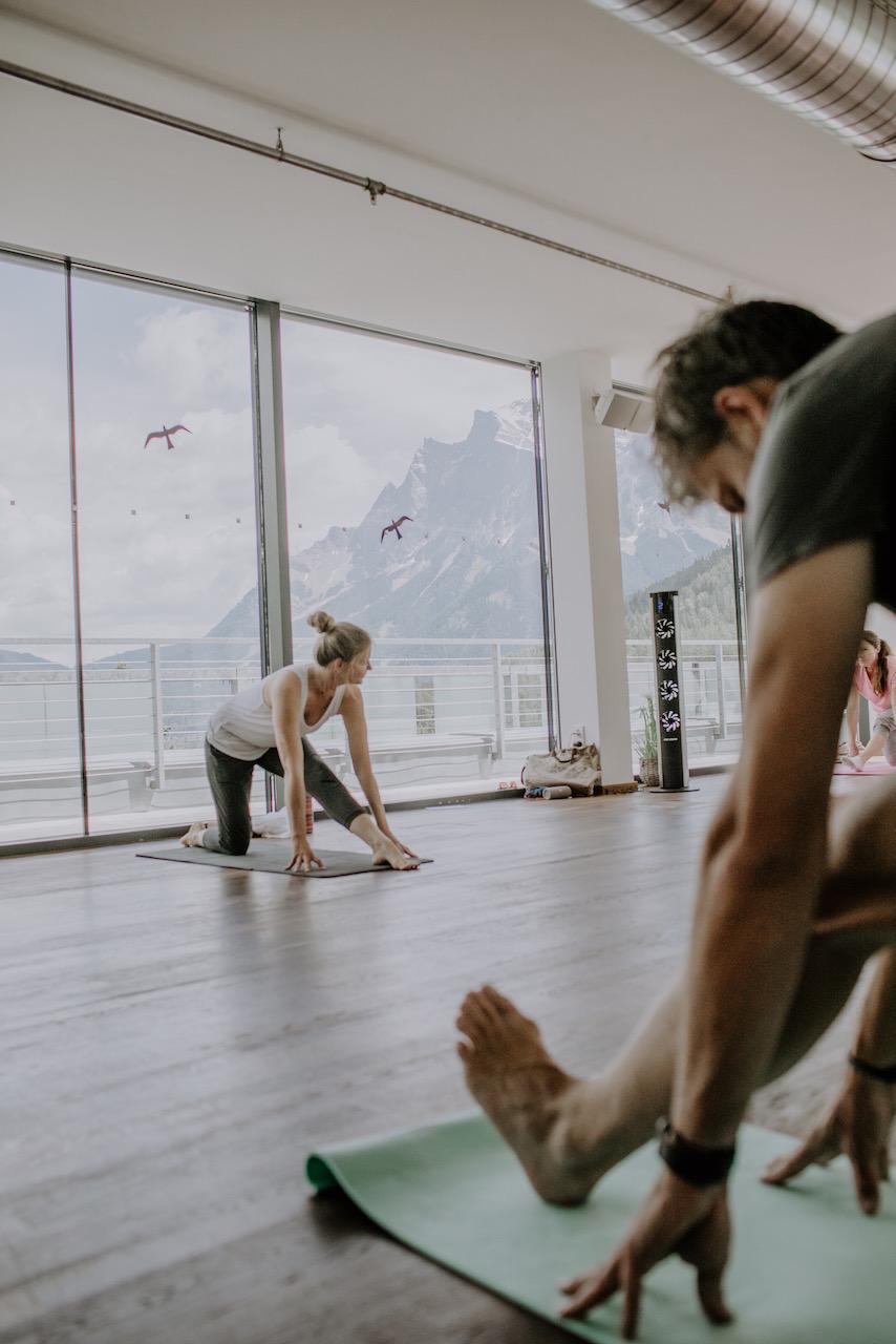 Yoga mit Aussicht